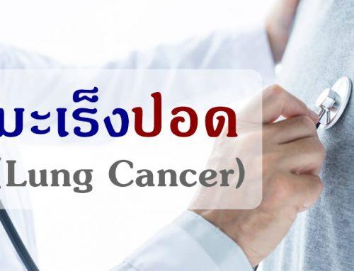 มะเร็งปอด : การวินิจฉัย การรักษา และการคัดกรอง